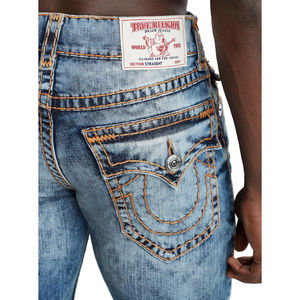 True Religion Men's Super T Straight Stretch Jeans